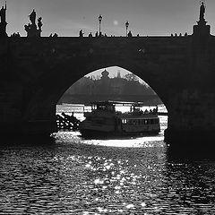 "photo ""Мост и пароход"""