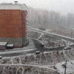 """фото """"Снежный шквал, зима не сдается"""""""