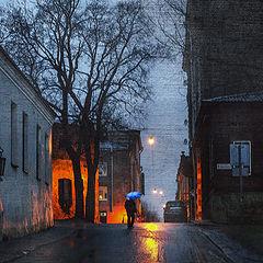 "фото ""Дождливый зимний вечер"""