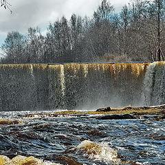 """photo """"Self-isolation. Yagala waterfall. Estonia"""""""