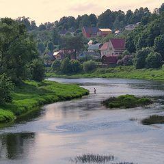 """фото """"Вид на реку с моста, май"""""""