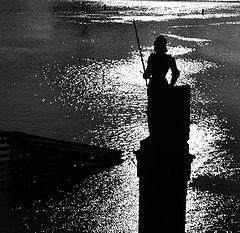 """photo """"Статуя и река"""""""