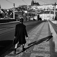 """photo """"Пешеход на мосту"""""""