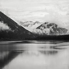 """photo """"Sylvenstein reservoir"""""""