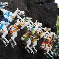 """photo """"Tivoli Horses Copenhagen Denmark"""""""