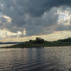"""фото """"Облака  над Волгой"""""""