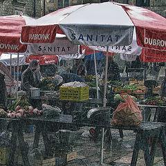 """фото """"Дождь и покупательский спрос"""""""