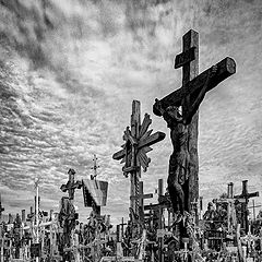 """photo """"The Hill of Crosses, Lithuania 2"""""""