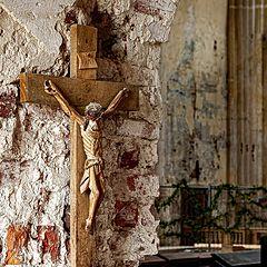 """photo """"The Church Being Restaured"""""""