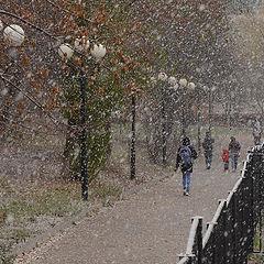 """фото """"Долгожданный снегопад."""""""
