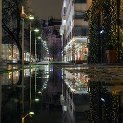 """фото """"Вечерний город любуется своим отражением..."""""""