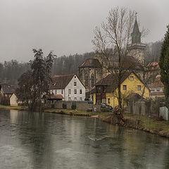 """фото """"Дождливым воскресным днём. Хайденхайм-Мергельштеттен, февраль 2021"""""""