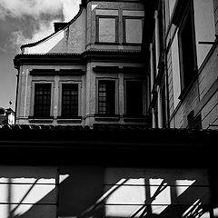 """photo """"Дом, стена и тени"""""""