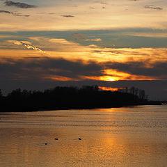 """photo """"Sunset at the lake"""""""