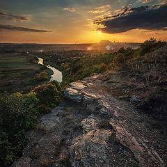 "photo ""Sunset on the Krynka River"""