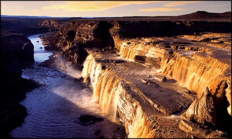 "фото ""Grand Falls on the Little Colorado"" метки: пейзаж, вода"