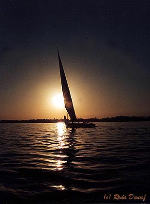 """photo """"Sailing on the Nile # 2"""" tags: travel, landscape, Africa, water"""