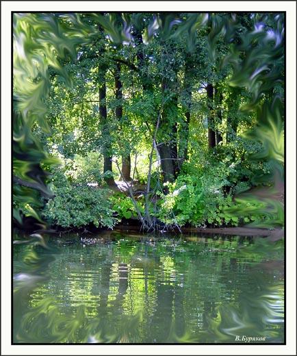 """фото """"Бережок2"""" метки: пейзаж, абстракция, вода"""