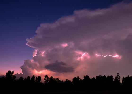 "фото ""Twilight Thunderhead at Sunset"" метки: пейзаж, ночь, облака"
