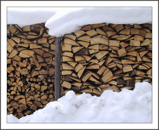 "photo ""Firewood"" tags: still life, landscape, winter"