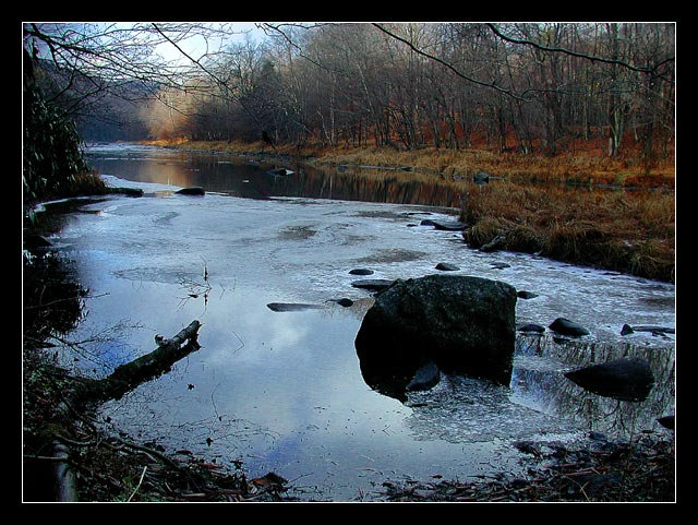 "photo ""River Sketches. Stones in the cold water."" tags: landscape, autumn, water"