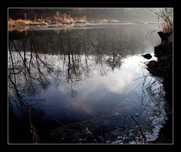 "photo ""River Sketches. First Ice Morning."" tags: landscape, autumn, water"