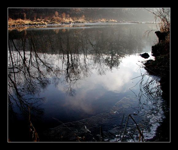 """фото """"Речные зарисовки. Утро первого льда."""" метки: пейзаж, вода, осень"""