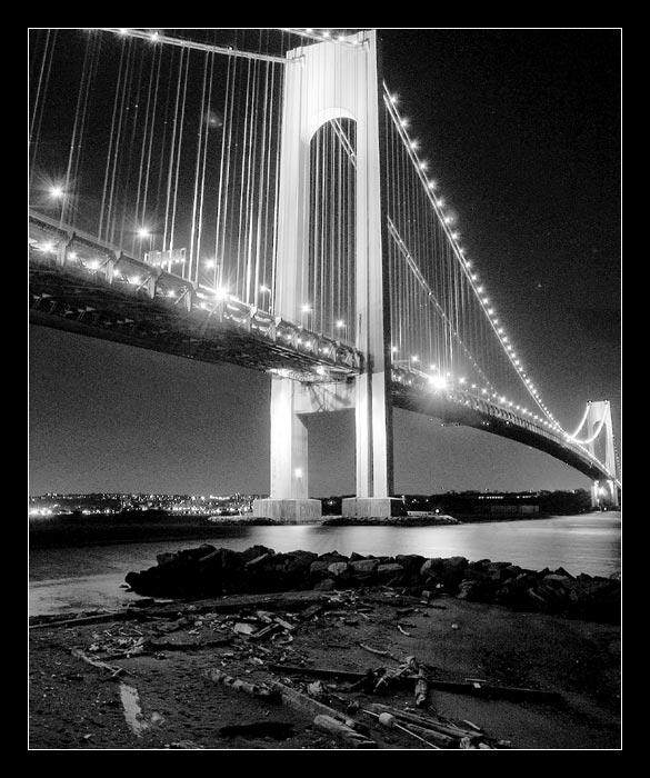 """photo """"The Verrazano Bridge Keeper"""" tags: genre, architecture, landscape,"""