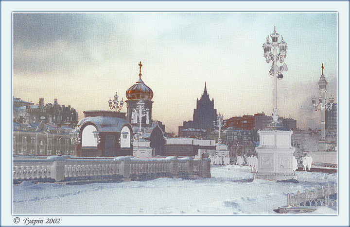 "photo ""Steeples, Old and New"" tags: architecture, landscape, winter"