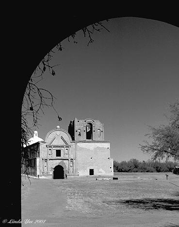 "photo ""Tumacacori Arch"" tags: travel, North America"