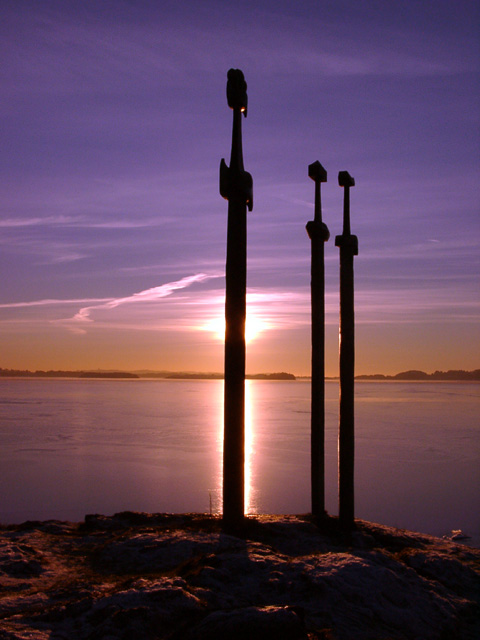 "photo ""swords in rocks"" tags: landscape, sunset"