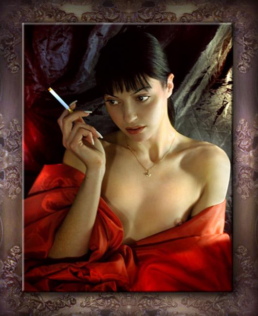 """photo """"Smart portrait of the Temptress....."""" tags: nude, portrait, woman"""