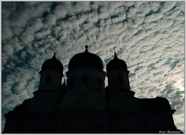 "photo ""Sky of Dmitrovsky cathedral"" tags: landscape, architecture, clouds"