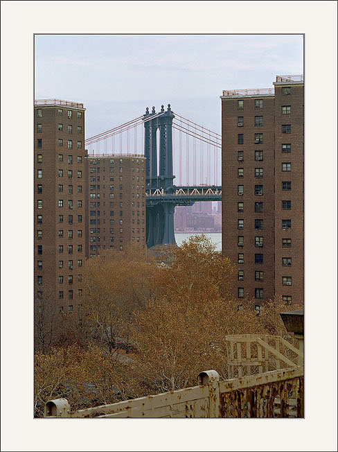 "photo ""New York -Manhattan Bridge"" tags: architecture, landscape,"