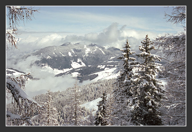 """photo """"The Alpine sketches 12"""" tags: landscape, mountains, winter"""