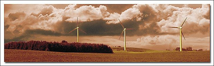 """photo """"Vindmills, a Danish Landscape"""" tags: landscape, montage, summer"""