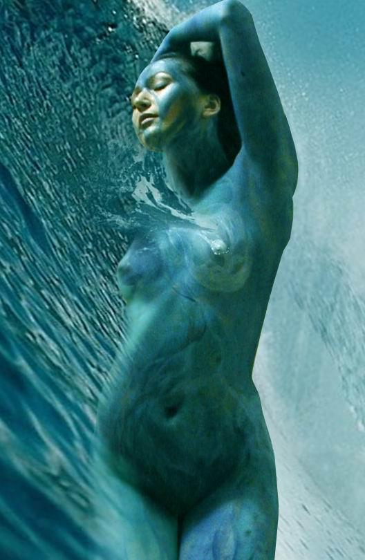 """фото """"Стихии. Вода"""" метки: фотомонтаж, ню,"""