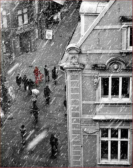 """фото """"A snowy day in Copenhagen"""" метки: разное,"""
