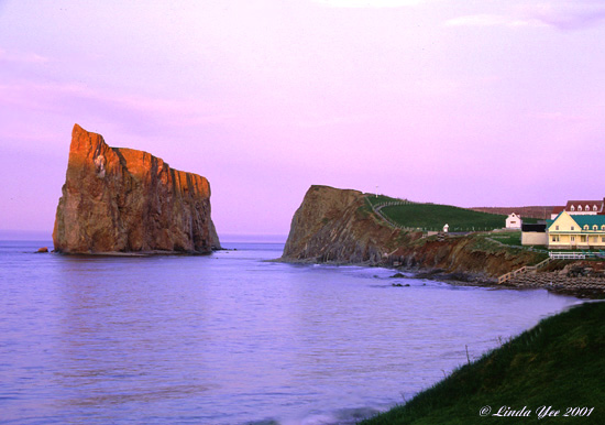 "photo ""Rocher Perce at Sunset"" tags: travel, landscape, North America"