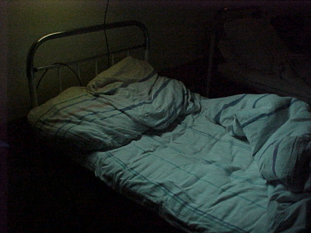"photo ""Lonely hospital bed"" tags: genre,"