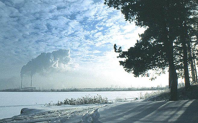 """фото """"Слияние природы с промышленностью"""" метки: пейзаж, зима"""