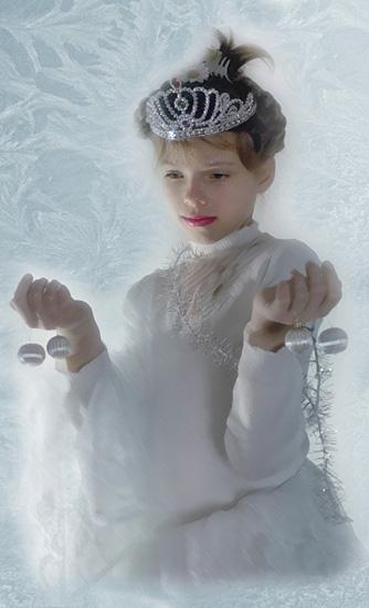 """photo """"Snow Queen"""" tags: montage, portrait, children"""