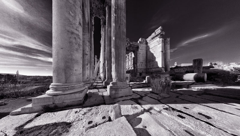 "photo ""Bacchus Temple, Baalbek"" tags: travel, architecture, landscape, Asia"