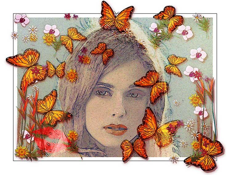 """фото """"Memories of a Summerkiss"""" метки: фотомонтаж, портрет, женщина"""