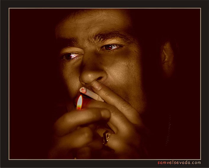 "photo ""THE LAST SMOKER"" tags: genre, misc.,"