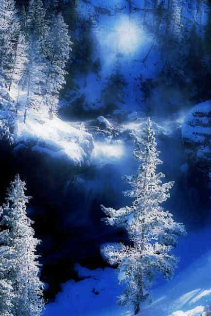 "photo ""Winter Falls"" tags: landscape, winter"