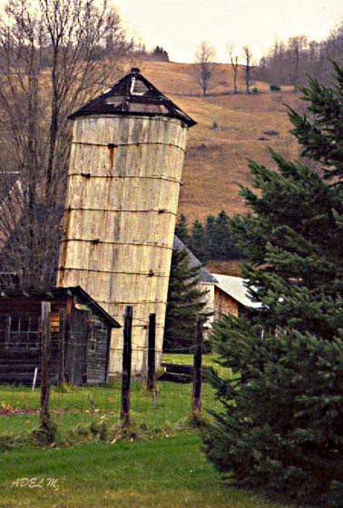 "photo ""The old Silo"" tags: landscape, travel, North America"