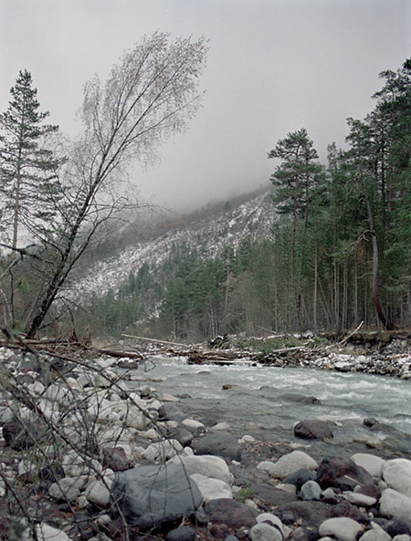"photo ""Gloomy day."" tags: landscape, mountains, water"