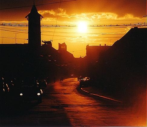 "фото ""Baia Mare sunset"" метки: пейзаж, путешествия, Европа, закат"