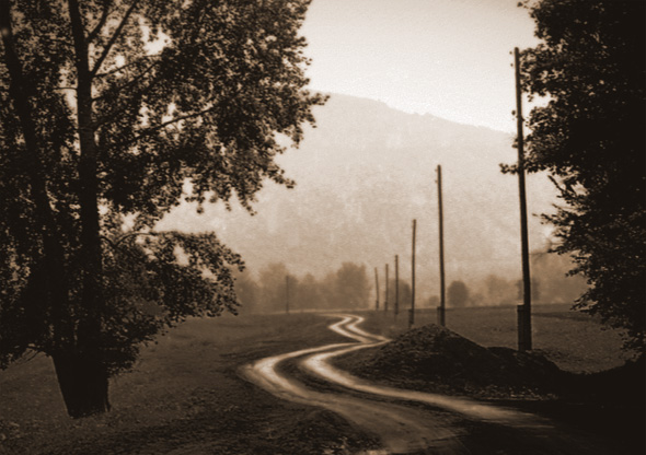 "photo ""The road"" tags: landscape, autumn"